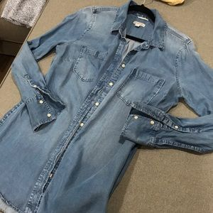 Target Brand chambray button up large